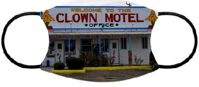 n a desolate piece of Nevada called Tonopah, you'll find the Clown Motel. It is terrifyingly seedy with clowns all over the place. This photograph taken on a dreary day captures it in all its horror.