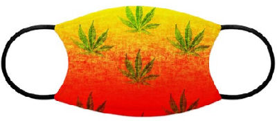 The red,orange,yellow backdrop for cascading marijuana leaves is a great stoner design that makes a perfect gift or freedom statement.